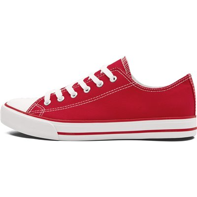 Unisex Trendi Canvas Sneaker Red Size 10