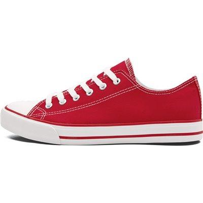 Unisex Trendi Canvas Sneaker Red Size 7