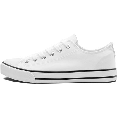 Unisex Trendi Canvas Sneaker White Size 10