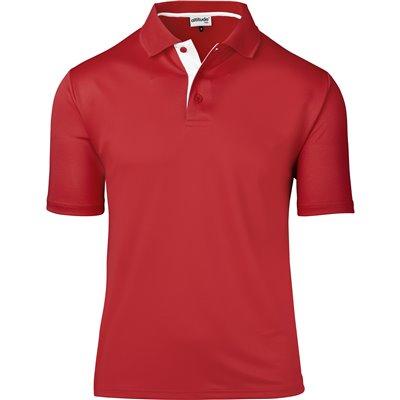 Kids Tournament Golf Shirt Red Size 10