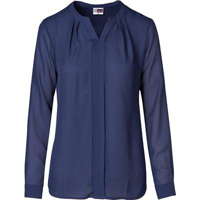 US Basic Ladies Long Sleeve Zenobia Blouse Navy Size M