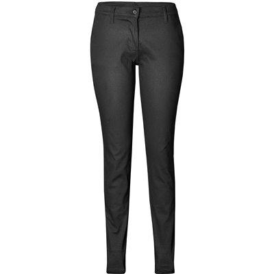 US Basic Ladies Superb Stretch Chino Pants Black Size 42