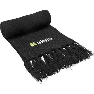 US Basic Nebraska Scarf Black