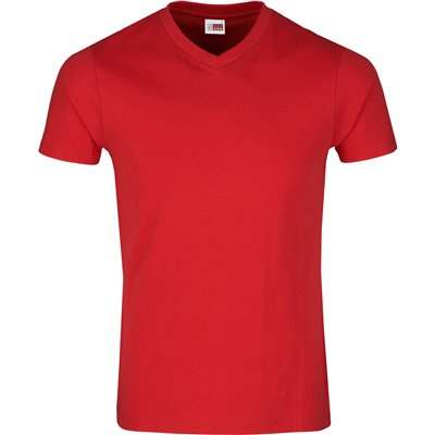 US Basic Mens Super Club 165 V-Neck T-Shirt Red Size 5XL