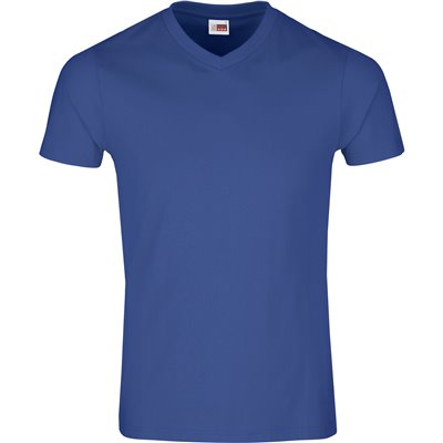 US Basic Mens Super Club 165 V-Neck T-Shirt Royal Blue Size 5XL