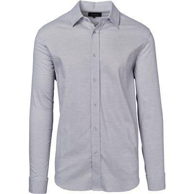 Gary Player Mens Long Sleeve Taylor Shirt Grey Size L