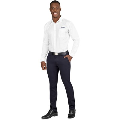 US Basic Mens Superb Stretch Chino Pants Navy Size 42