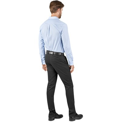 US Basic Mens Superb Stretch Chino Pants Black Size 30