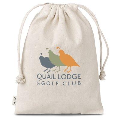 Okiyo Chikara Cotton Midi Drawstring Pouch Natural