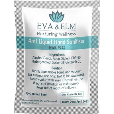 Eva & Elm Buxton Liquid Hand Sanitiser - 4ml Solid White