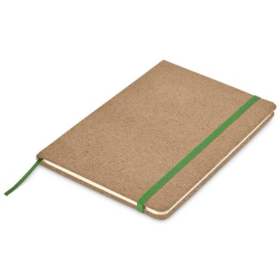 Okiyo Sakura Cork A5 Notebook Green