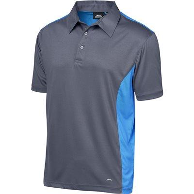 Slazenger Mens Glendower Golf Shirt Aqua Size 5XL