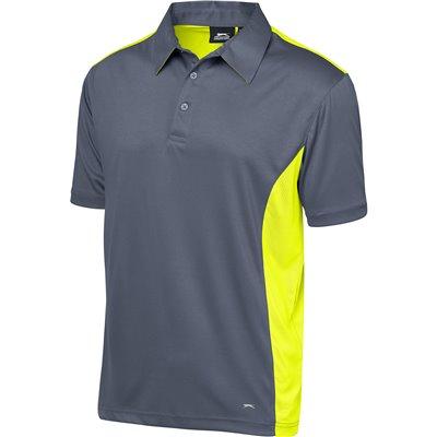 Slazenger Mens Glendower Golf Shirt Yellow Size 5XL