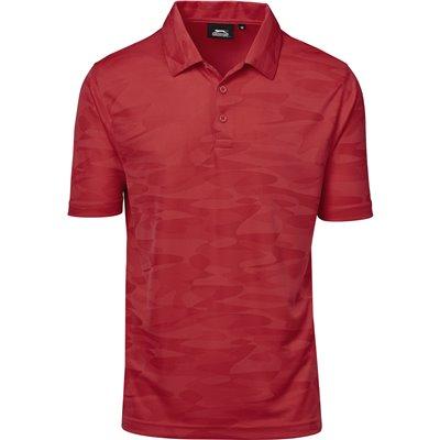 Slazenger Mens Volition Golf Shirt Red Size Large
