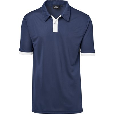 Slazenger Mens Contest Golf Shirt Navy Size 5XL