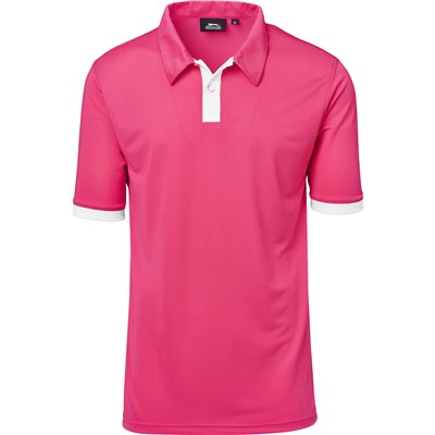 Slazenger Mens Contest Golf Shirt Pink Size 5XL