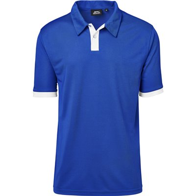 Slazenger Mens Contest Golf Shirt Royal Blue Size 5XL