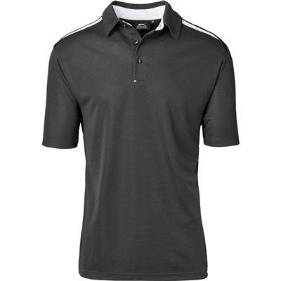 Slazenger Mens Simola Golf Shirt Charcoal Size 4XL