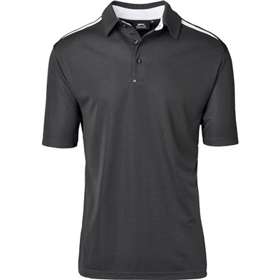 Slazenger Mens Simola Golf Shirt Charcoal Size 5XL
