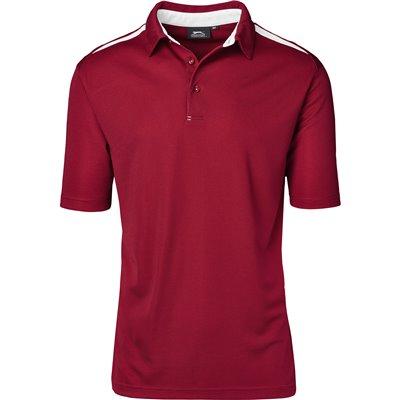 Slazenger Mens Simola Golf Shirt Red Size 5XL