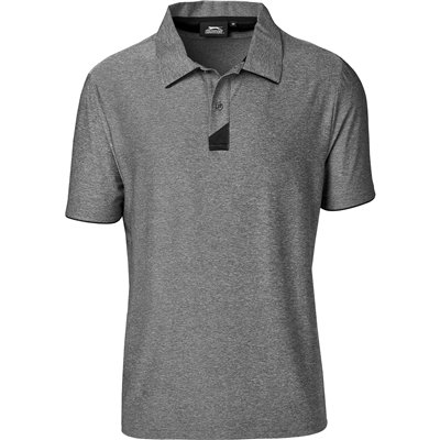 Slazenger Mens Cypress Golf Shirt Charcoal Size Small