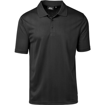 Slazenger Mens Florida Golf Shirt Black Size 5XL