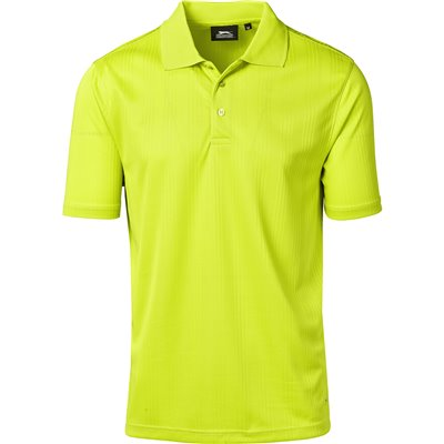 Slazenger Mens Florida Golf Shirt Lime Size 5XL