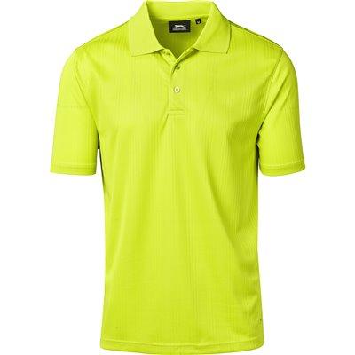 Slazenger Mens Florida Golf Shirt Lime Size 5XL