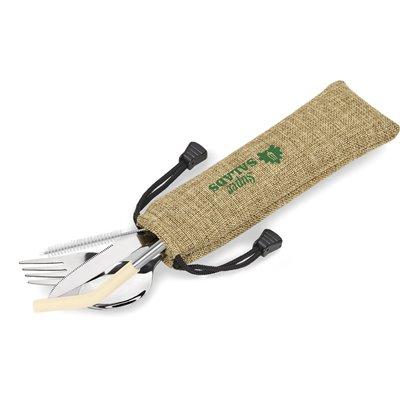 Kooshty Safari Cutlery & Straw Set Cream