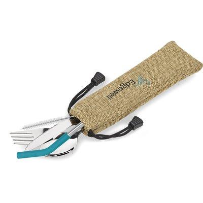 Kooshty Safari Cutlery & Straw Set Turquoise