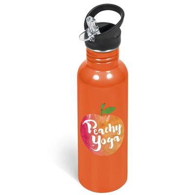 Ventura Flip Valve Lid Water Bottle - 750ml Orange