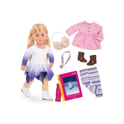 Our Generation Deluxe Doll With Book Katelyn 18Inch Blonde