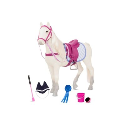 Our Generation Horse Sterling Gray 20Inch With Accessories
