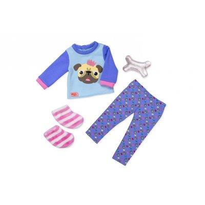 Our Generation Regular Pyjama Outfit - Pug-Jama Party