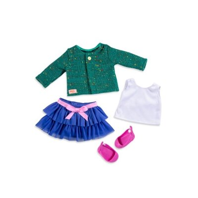 Our Generation Regular Ruffle Skirt & Sweater Outfit - Bright And Brisk