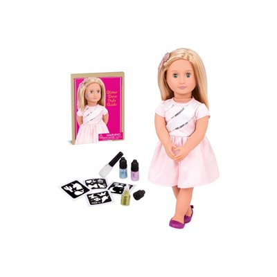 Our Generation Tattoo Doll Rosalyn With Glitter Deco Blonde