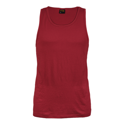 160g Mens Vest Red Size Large