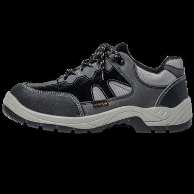 Barron Crusader Safety Shoe  Black/Grey Size 4