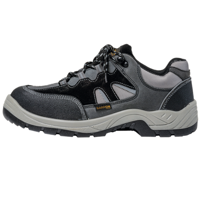 Barron Crusader Safety Shoe  Black/Grey Size 8