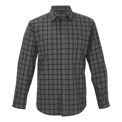 Enviro Lounge Shirt Long Sleeve  Charcoal/Black Size Large