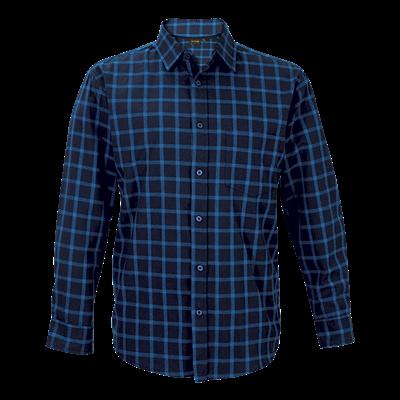 Enviro Lounge Shirt Long Sleeve  Navy/Blue Size 3XL