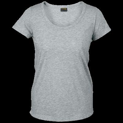 Ladies 160g Zoey T-Shirt Grey Size Medium