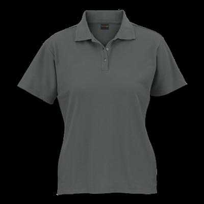 Ladies 175g Barron Pique Knit Golfer Grey Size XS