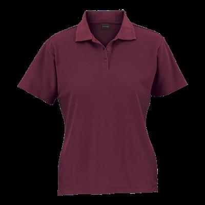 Ladies 175g Barron Pique Knit Golfer Maroon Size XS