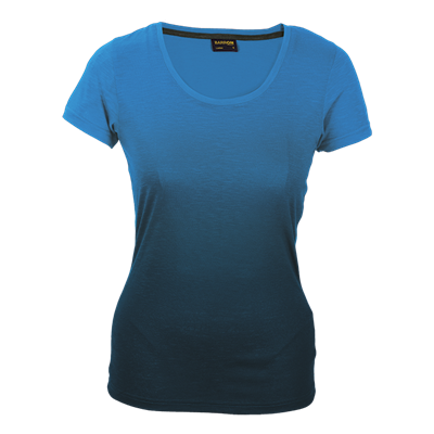 Ladies Bailey Crew Neck T-Shirt Blue/Navy Size Small