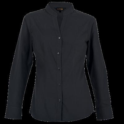 Ladies Barista Blouse Long Sleeve  Black Size 3XL