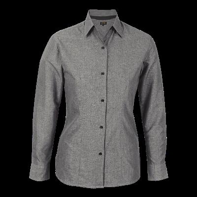 Ladies Berlin Blouse Long Sleeve  Silver/Black Size Large