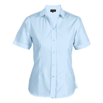 Ladies Easy Care Blouse Short Sleeve  Sky Blue Size 3XL