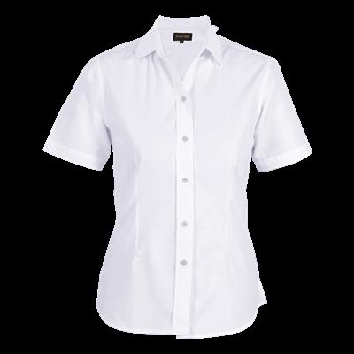 Ladies Easy Care Blouse Short Sleeve  White Size Large
