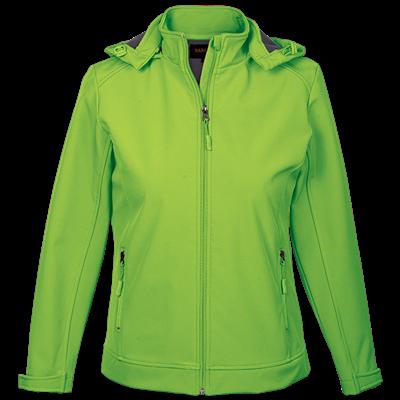 Ladies Illusion Jacket  Lime Size 3XL